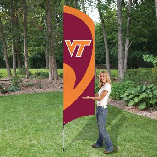 Virginia Tech Tall Feather Flag