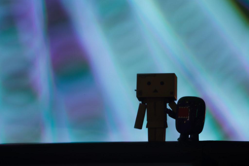 danbo vs domo vs minato mirai danbo and domo is amazed wit flickr