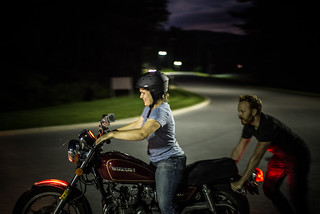 Tyler Teaching Lizza How to Ride a Motorcycle | by goingslowly