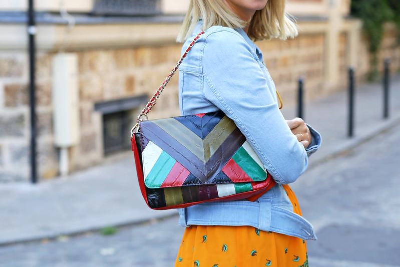 sac multicolore zig-zag