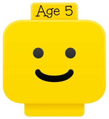 LEGO smiley head for age 5