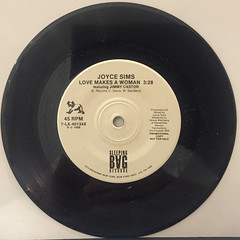 JOYCE SIMS:LOVE MAKES A WOMAN(RECORD SIDE-A)