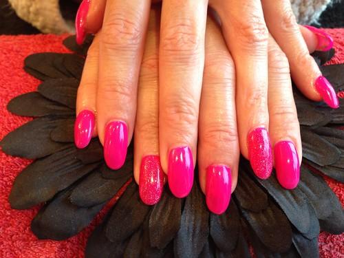 Hot Pink Glitter Nail Polish Hot Pink Gelish Gel Polish