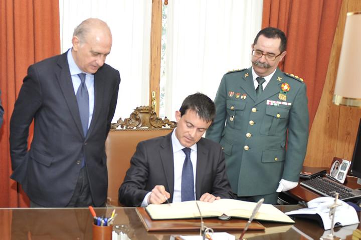 Los ministros del interior de espa a y francia jorge fern for Ministros de espana