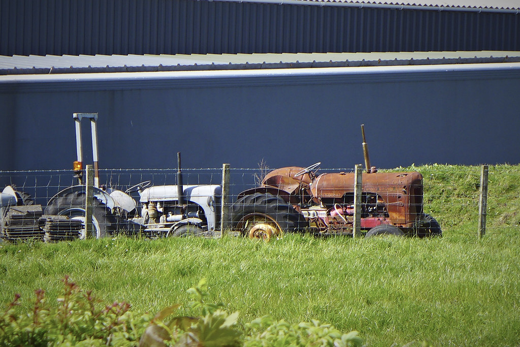 ex tractor fan on a cycle around the back roads of eaglesh flickr