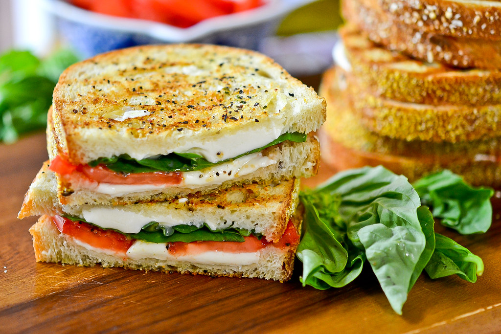 Grilled Margherita Sandwiches Taking A Perfectly