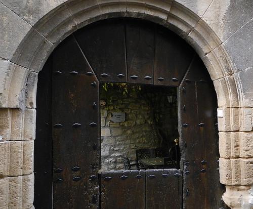 Doorway to winery in Laguardia, Spain