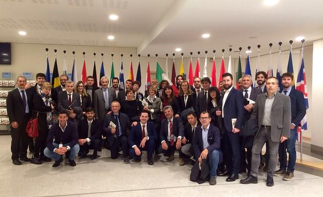 Amministratori dell'Emilia Romagna a Bruxelles - ottobre 2016