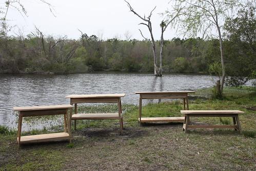 River reclaimed cypress furniture landrumtables flickr for Jungle furniture white river