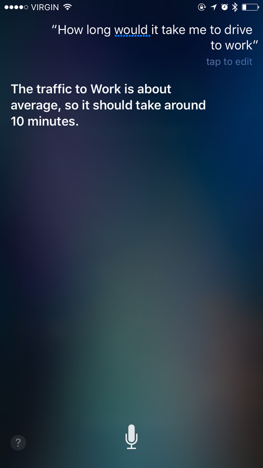How long would it take me to drive to work?