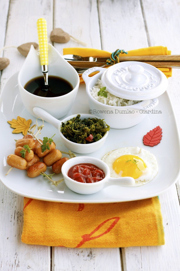 Hotdogs Eggs And Fried Rice Hotsilog A Philippine Breakfast