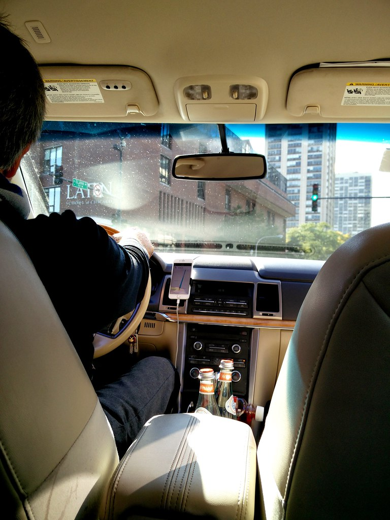 Riding In Style Uber Towards Eataly Chicago