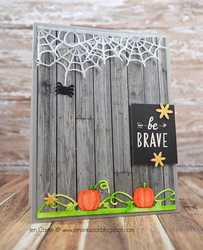 Jen Carter Pumpkin Spiderweb Brave