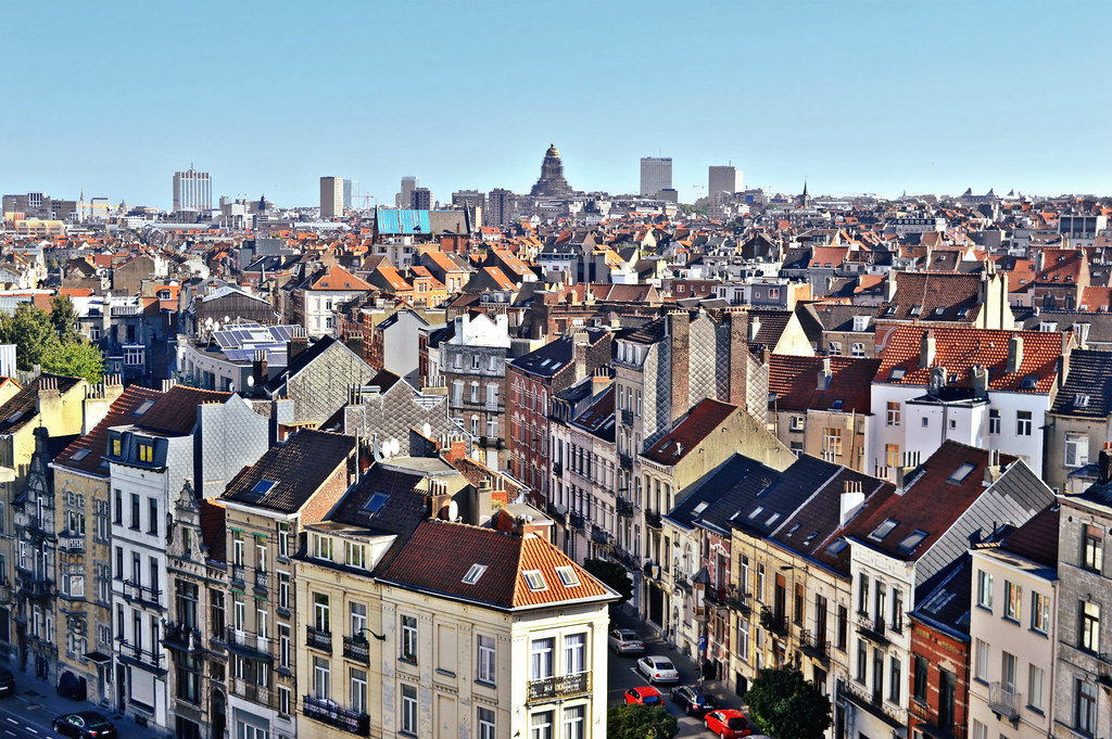 View of the city of Brussels, Belgium.