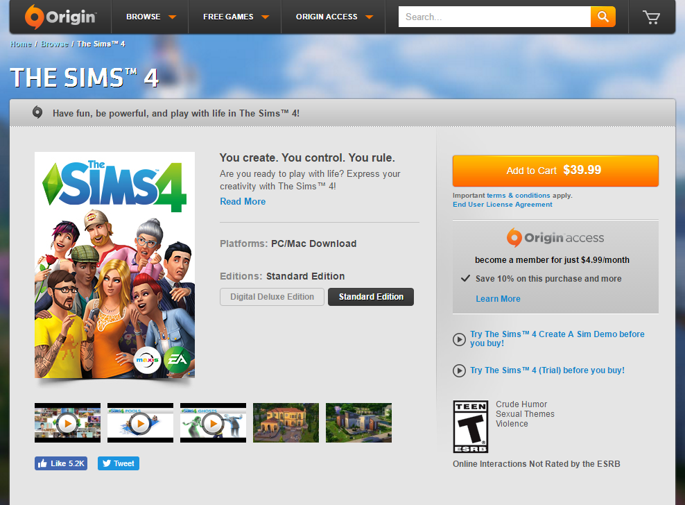 Sims 4 Base Game Price Reduction