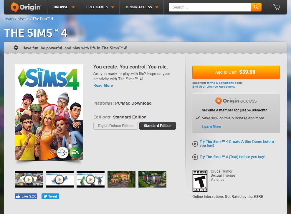 Sims 4 Base Game Price Reduction