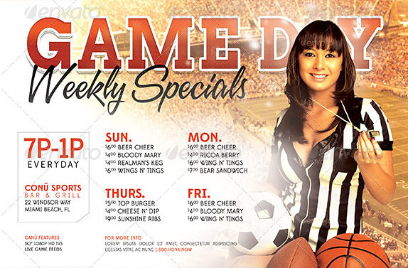 game day specials flyer template the game day specials fly flickr