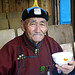 An elderly Mongolian herder