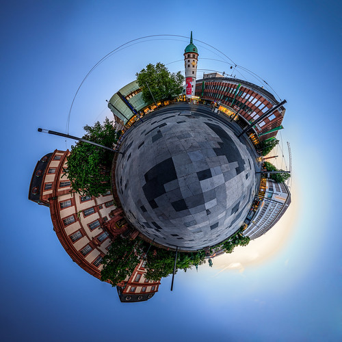 Little Planet, Darmstadt, Friedensplatz | by sidjej