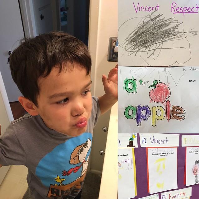 Vincent First Day of School Kindergarten
