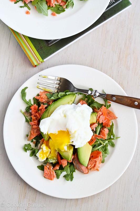 Poached Eggs Over Avocado & Smoked Salmon   cookincanuck.com #recipe #avocado