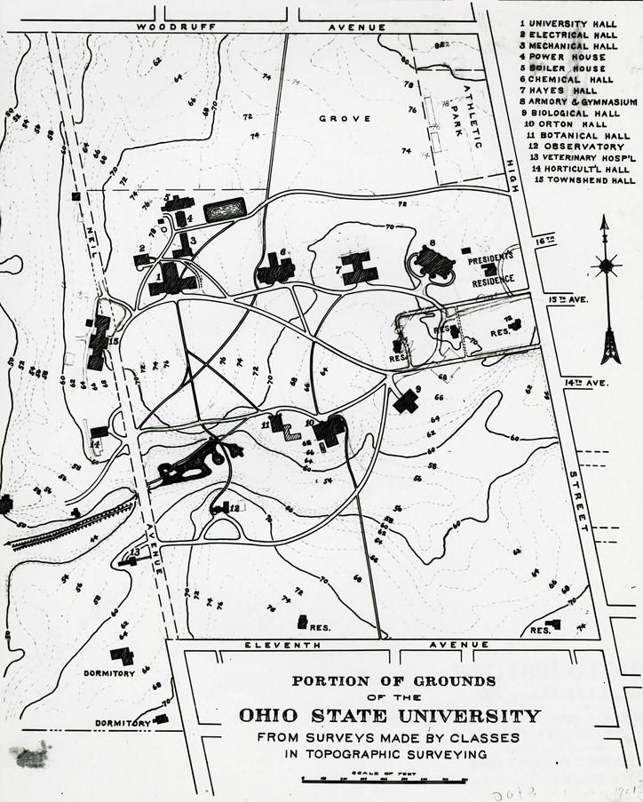circa 1901 campus map | Ohio State University Campus Map, Su… | Flickr