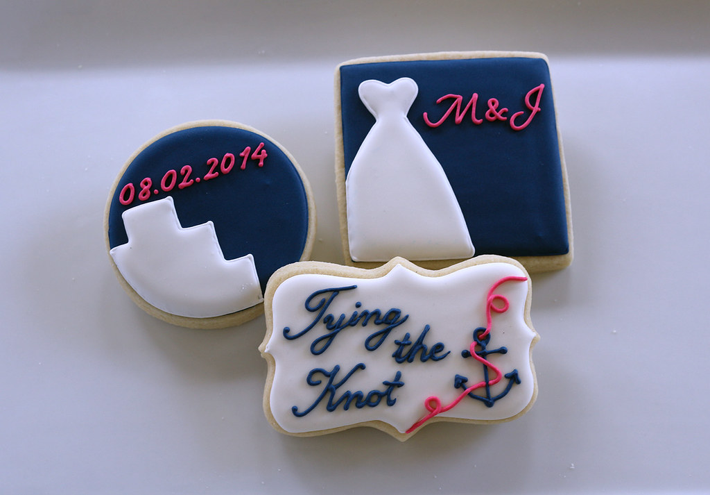 nautical bridal shower favors by jaclyns cookies