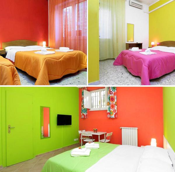 I Sette Re Affittacamere, colorido hotel barato en el centro de Roma que sin duda es de las mejores opciones para dormir lowcost en Roma