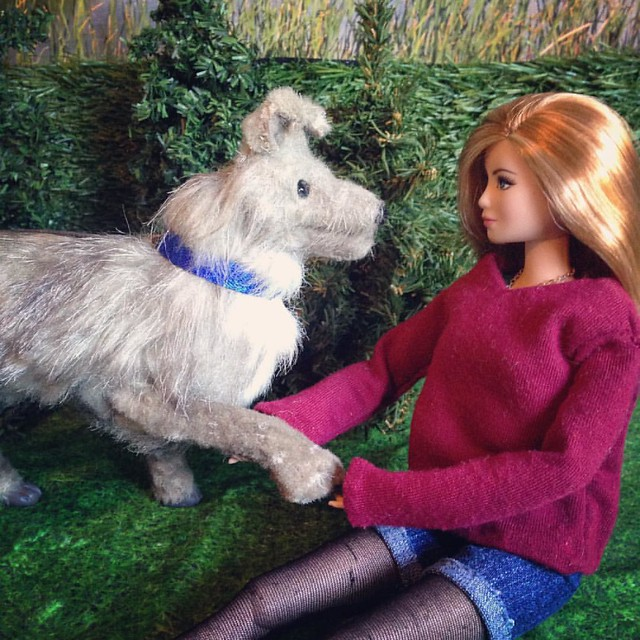 'Paw!' . #barbie #barbiecollector #barbiecustom #dollsofinstagram #dollstagram #instadoll #artdoll #poseableartdoll