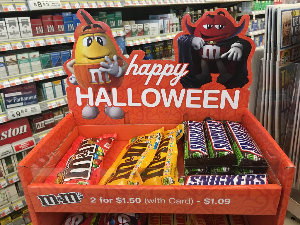 halloween mm mandms candy packages and display walgreens 92016 pics by