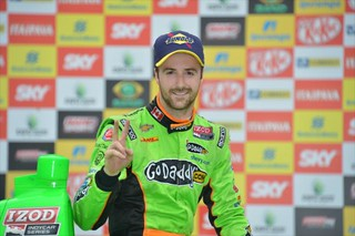 James Hinchcliffe celebrates in Victory Lane after his 2nd win in 2013 | by IndyCar Series
