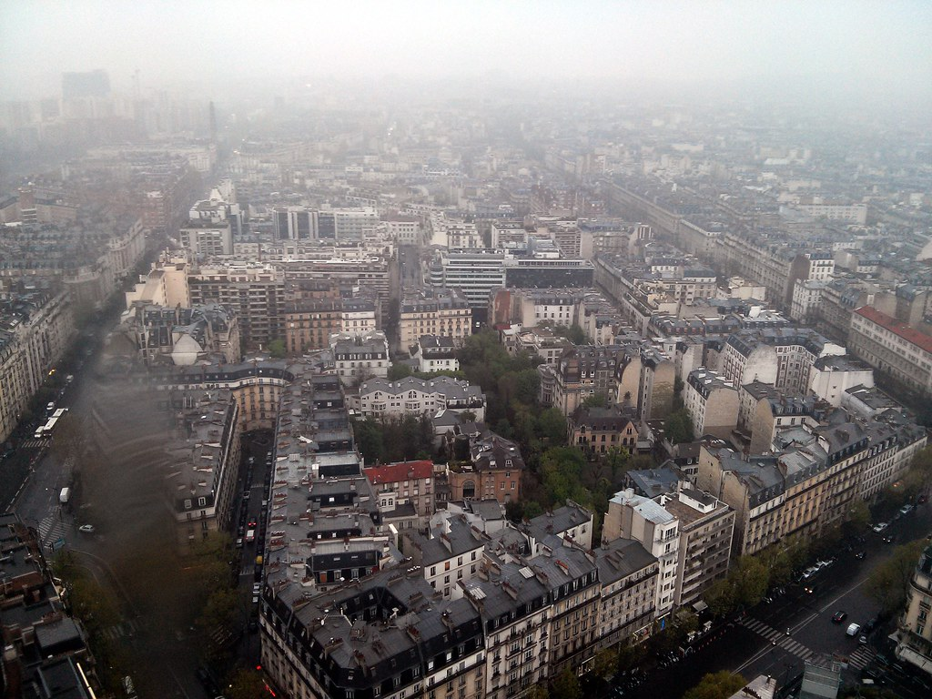 Foggy 17th Arrondisement, Hyatt, Paris, France
