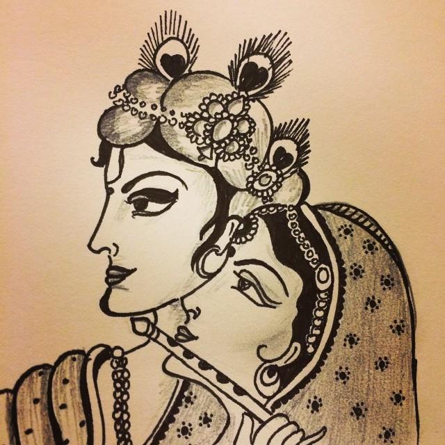 art #radha #krishna #artist #doodle #artist #draw #drawin…   Flickr