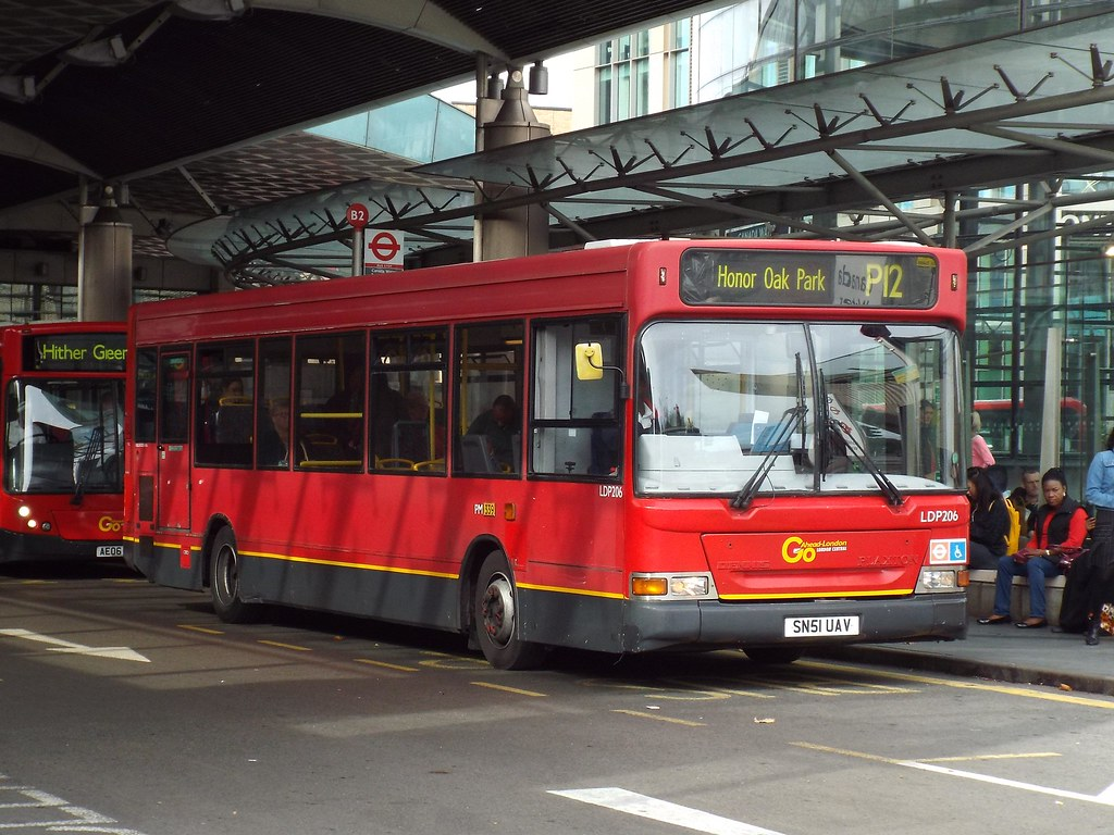 go-ahead london central ldp206, sn51uav at canada water on… | flickr