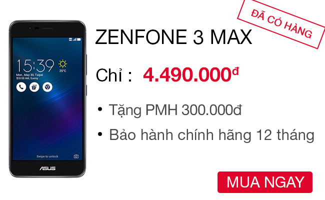 ASUS ZenFone 3 Max ZC520TL Công ty  - CellphoneS