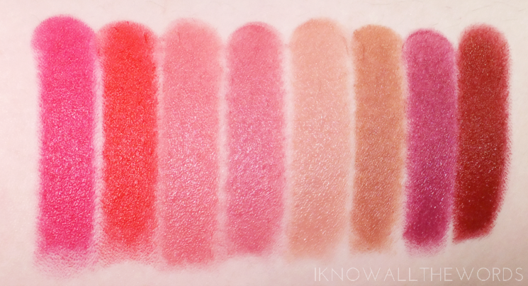 mary kay gel semi-matte lipstick swatches (1)