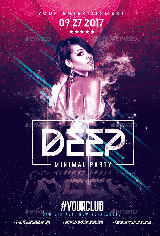 Deep Club Party Minimal Flyer Template Psd Flyer Templat Flickr