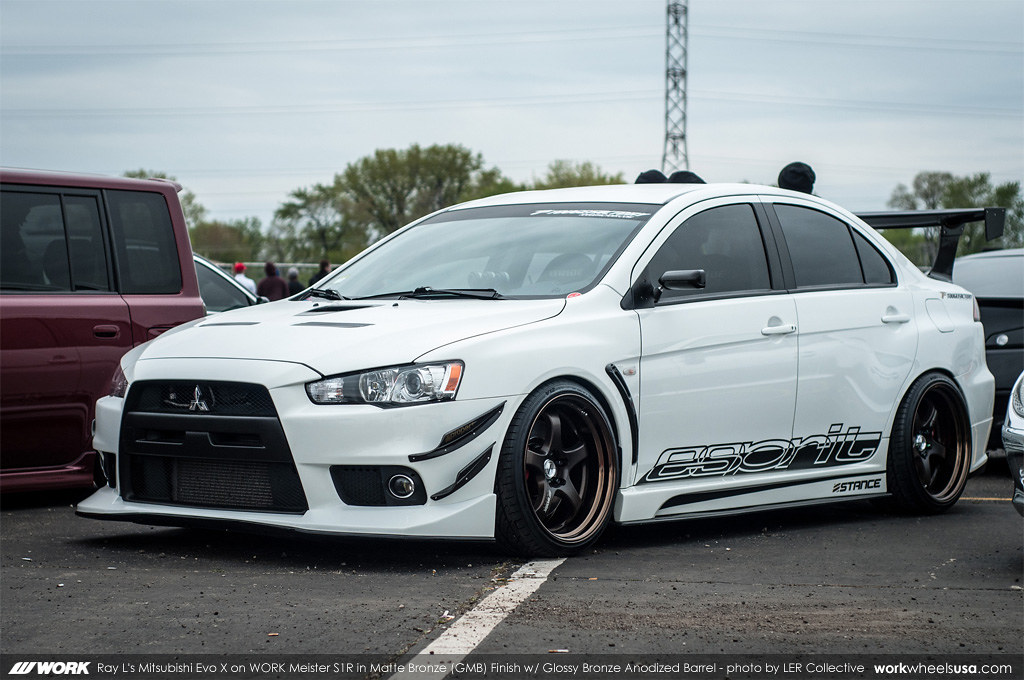 Ray L S Mitsubishi Evo X On Work Meister S1r Gmb Flickr