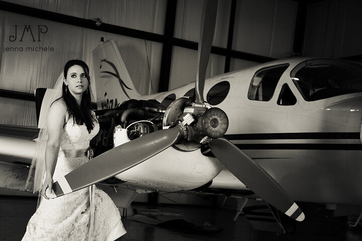 Rock the dress bridal shoot with airplane trash the for Wedding dress on plane