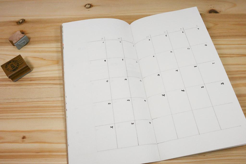 making a monthly calendar blank refill midori s traveler flickr