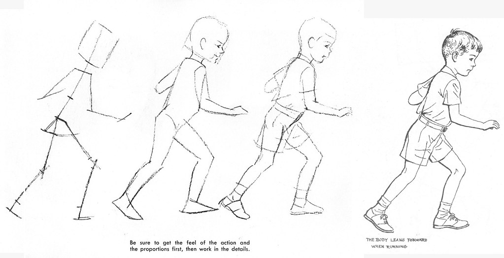 Boy running How to Draw and Paint Children by Viola Fren Flickr