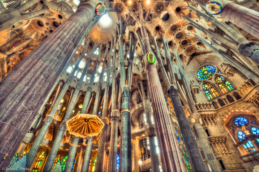 La Sagrada Familia Interior in Barcelona Spain As aweins Flickr