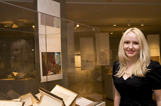 Kelli Wood in the Special Collections Research Center Exhibition Gallery | by University of Chicago Library
