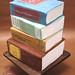 Stack of Books Birthday Cake