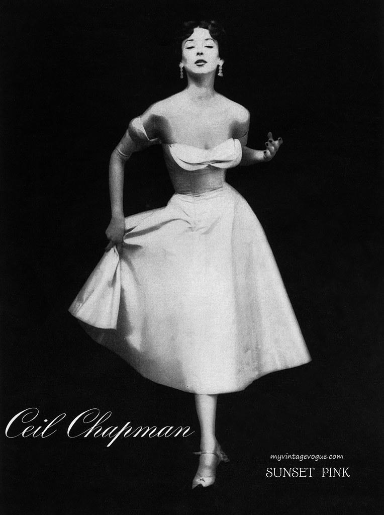 Ceil Chapman 1951 Model Dorian Leigh Jessica Flickr