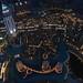 Dubai Fountain Show. Hotel The Address. Seen from the Burj Khalifa.