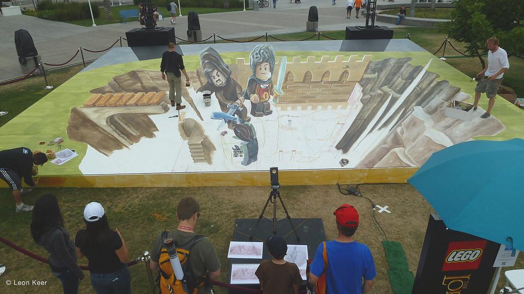 streetart-lego-san-diego | 3D street painting of Lego Lord o… | Flickr