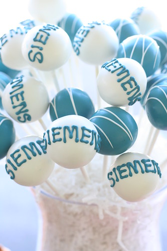 Custom Corporate Logo Cake Pops | by Sweet Lauren Cakes