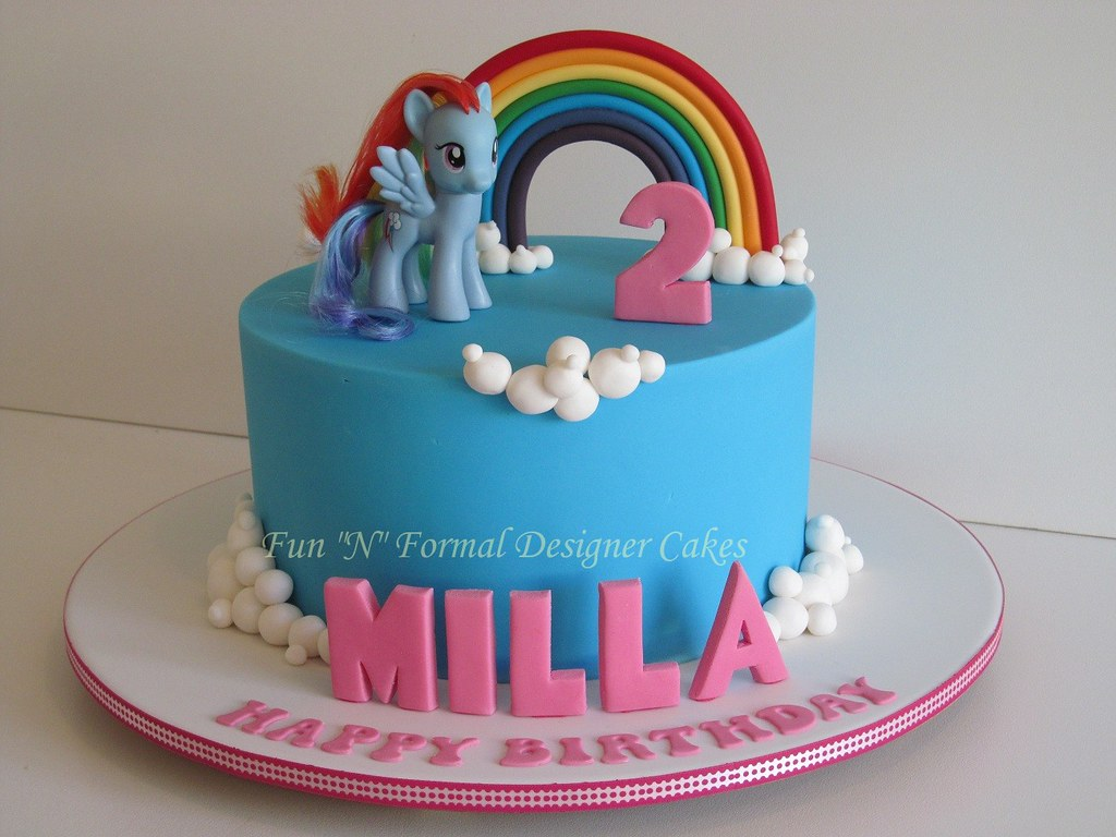 Small Images Of Birthday Cake : My Little Pony Birthday Cake Based on a design by ...