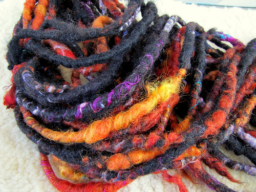 Jet black natural colored wool sprinkled with fire!! | by pumpkinhaus